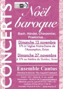 Concerts 13 et 27 novembre 2016