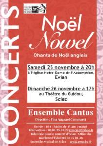 Concerts 25-26 novembre 2017