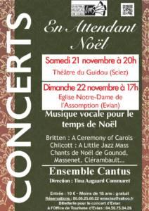 Concerts 21-22 novembre 2015