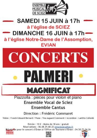 Concerts de l'Ensemble Vocal de Sciez & l'Ensemble Cantus les 15-16 juin