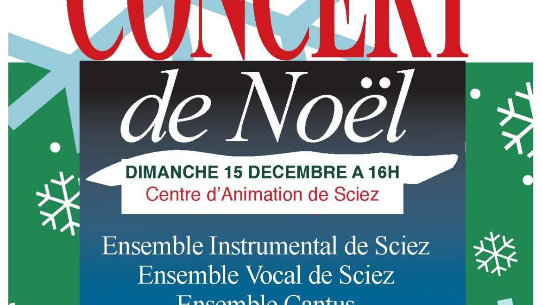 Concert de Noël le dimanche 15 décembre